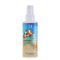 Sunscreen baby milk for sensitive skin SPF 50 • UVA + UVB • Very high level of protection • waterproof UV filter • For face and body